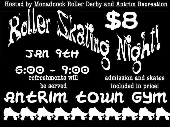 ROLLER SKATING NIGHT POSTER